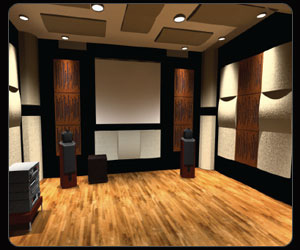 Home theater design room acoustic design thx video calibration home automation design Home theatre room design ideas in india